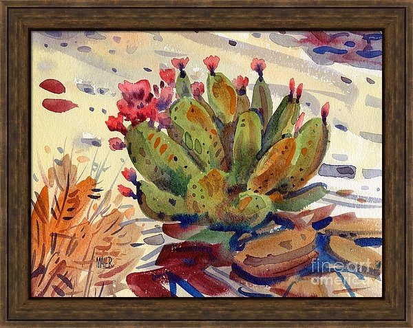 Donald Maier - Flowering Opuntia Print