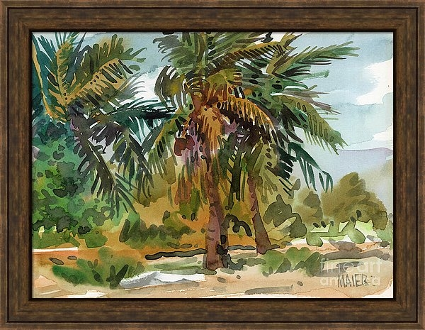 Donald Maier - Palms in Key West Print