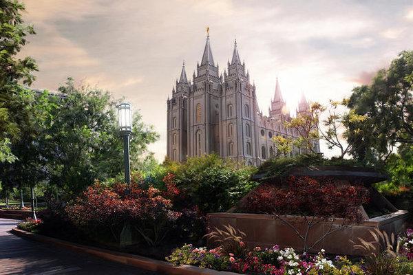 Brent Borup - Salt Lake temple Print