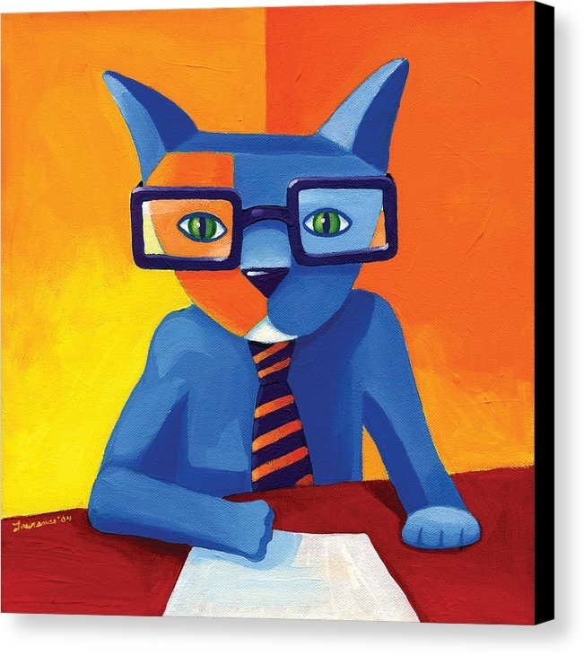 Mike Lawrence - Business Cat Print
