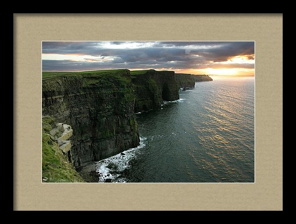 Pierre Leclerc Photography - Sunset at the Cliffs of M... Print