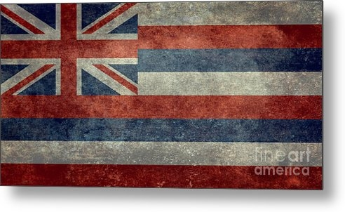 Bruce Stanfield - State flag of Hawaii Vint... Print