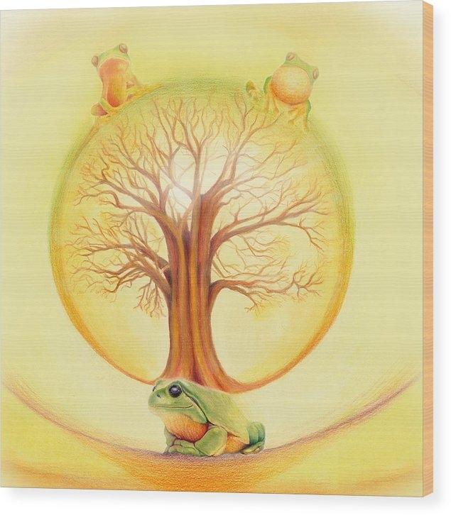 Robin Aisha Landsong - Frog under Tree of Life Print