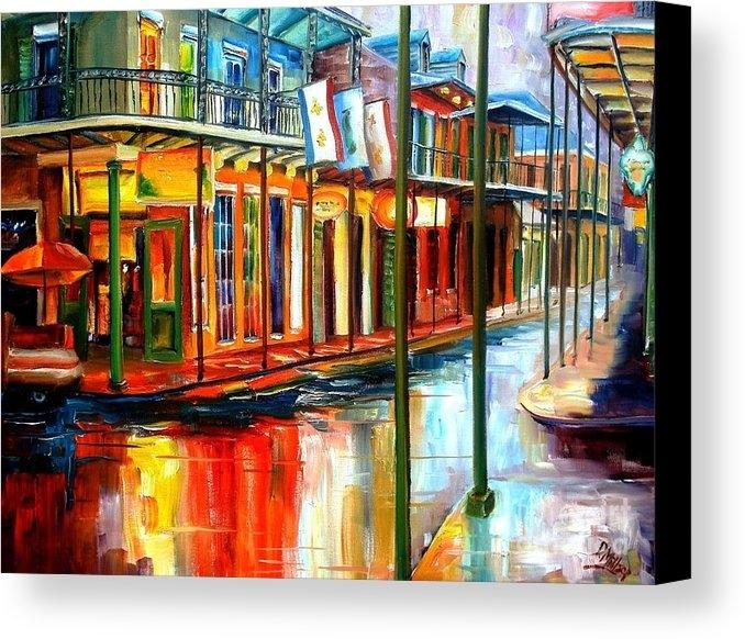 Diane Millsap - Downpour on Bourbon Stree... Print