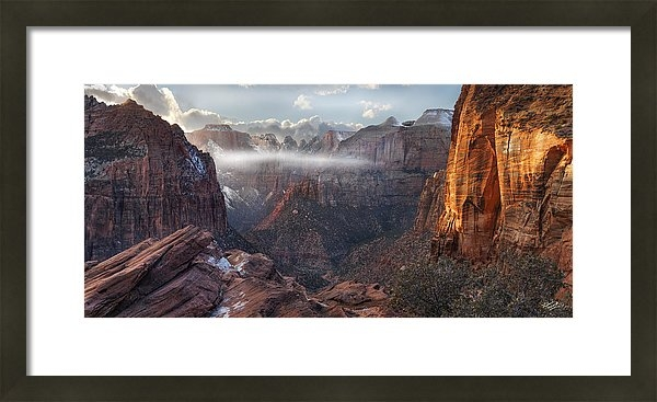 Leland D Howard - Zion Canyon Grandeur Print