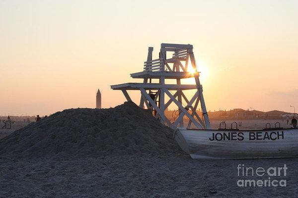 John Telfer - Sunset at Jones Beach Print
