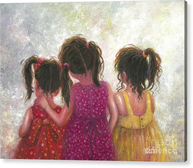 Vickie Wade - Three Little Sweet Pea Si... Print
