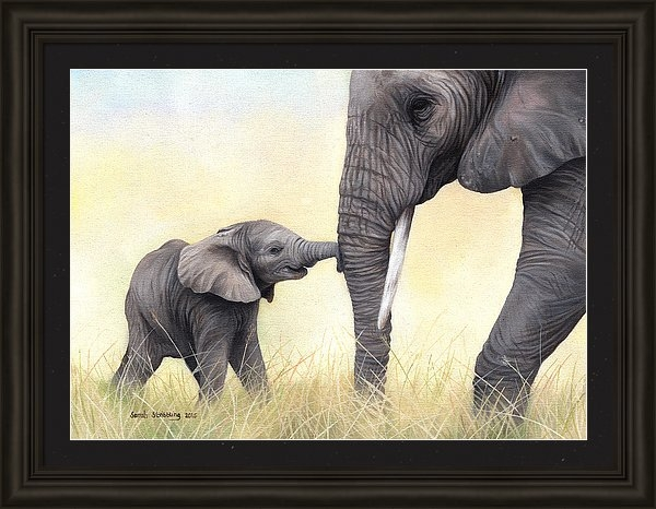 Sarah Stribbling - African Elephant and baby Print