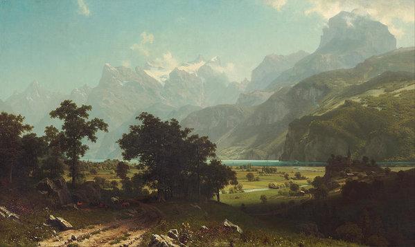 Albert Bierstadt - Lake Lucerne Print