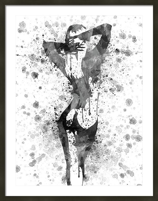 Aged Pixel - Nude in Black and white Print