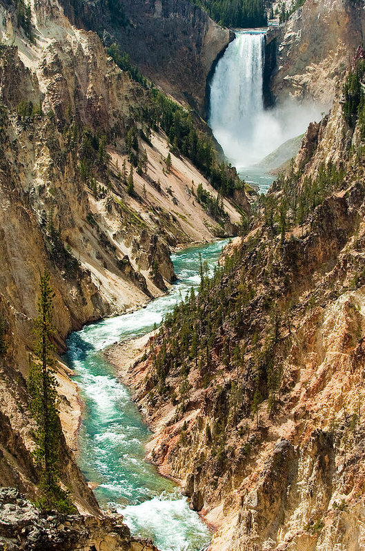 Sebastian Musial - Yellowstone Waterfalls Print