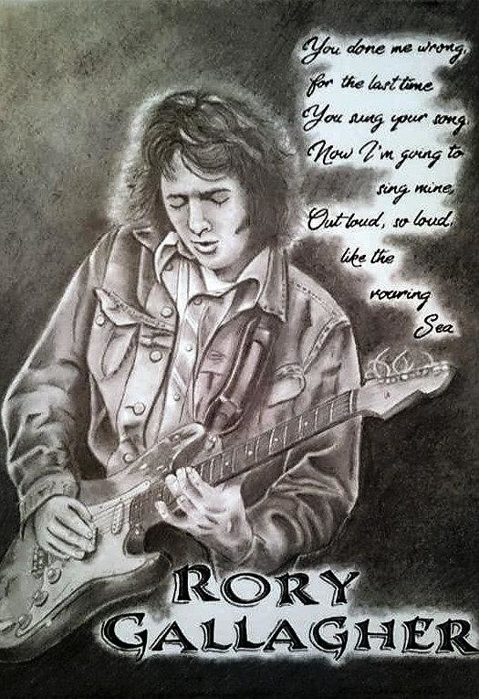 James Lynch - Rory Gallagher  Print