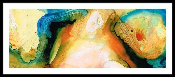 Sharon Cummings - Channels - Abstract Art b... Print