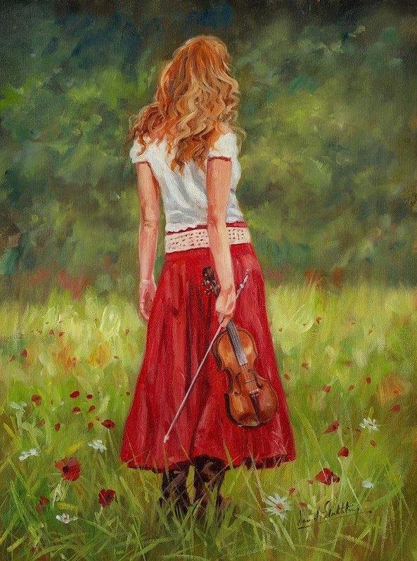 David Stribbling - The Violinist Print