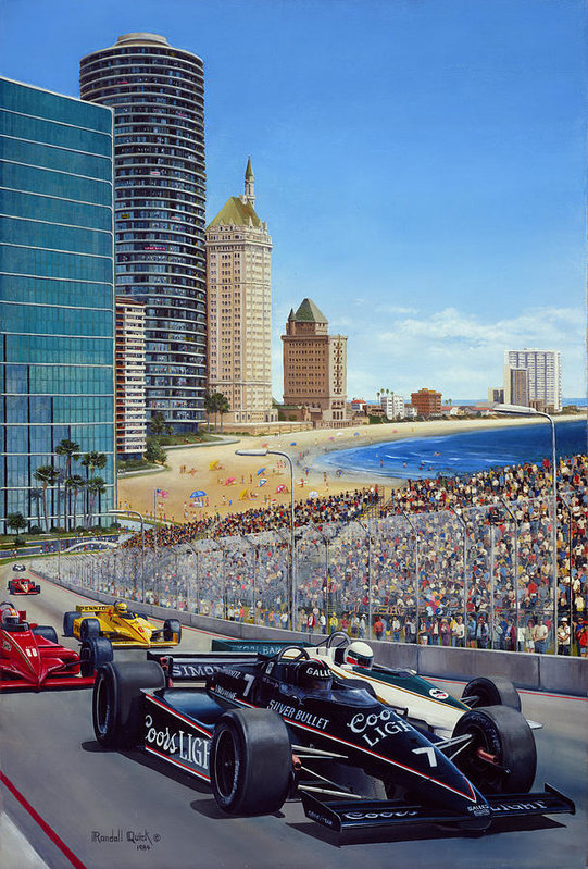 Randall R Quick - Long Beach Grand Prix 198... Print
