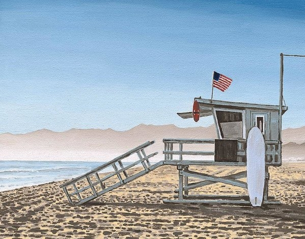 Andrew Palmer - Life Guard Tower Print