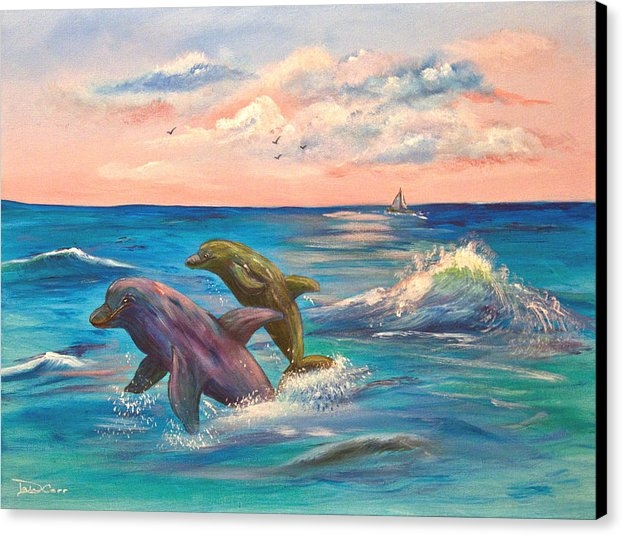 Dale Carr - Dolphin Duo Print
