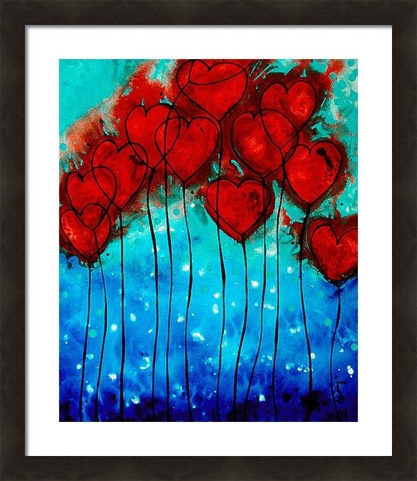 Sharon Cummings - Hearts on Fire - Romantic... Print