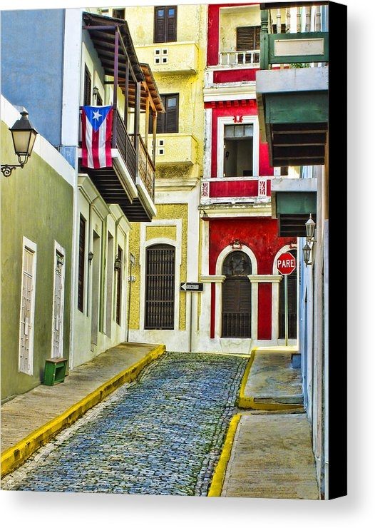 Carter Jones - Colors of Old San Juan Pu... Print