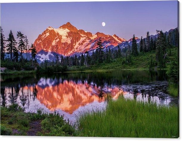 Russell Wells - Mt. Shuksan Sunset Print