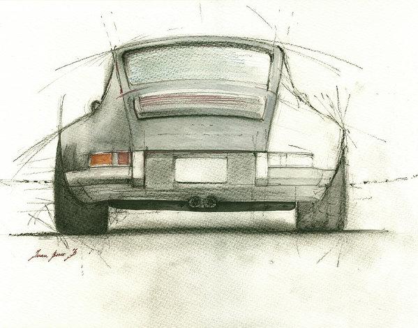 Juan Bosco - Porsche 911 rs Print