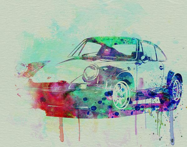 Naxart Studio - Porsche 911 Watercolor 2 Print