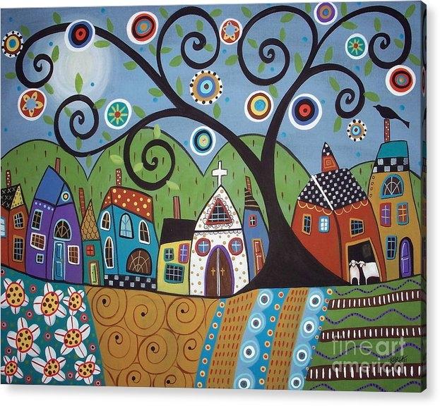 Karla Gerard - Polkadot Church Print