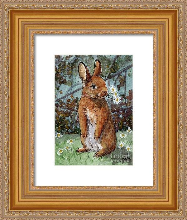 Svetlana Ledneva-Schukina - Lovely Rabbits - Daisies ... Print