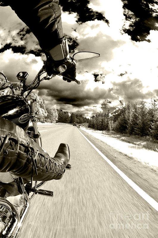 Micah May - Ride to Live Print
