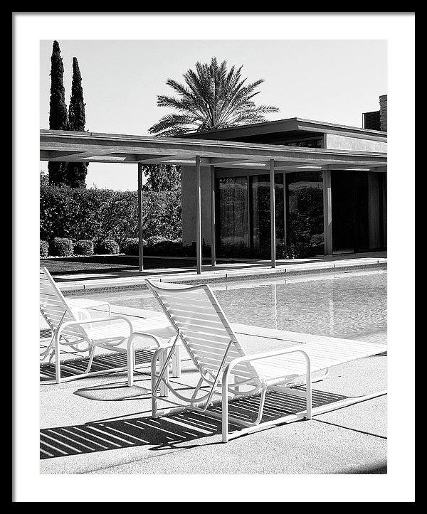 William Dey - SINATRA POOL BW Palm Spri... Print