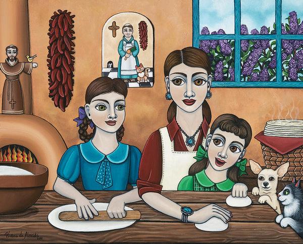 Victoria De Almeida - Mamacitas Tortillas Print