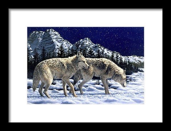 Crista Forest - Wolves - Unfamiliar Terri... Print