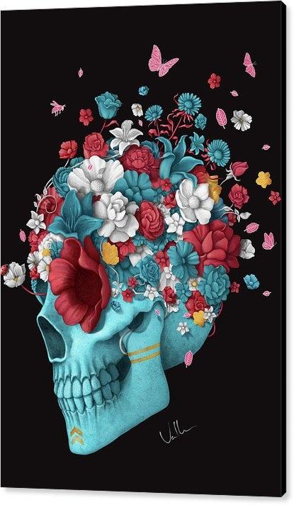 Francisco Valle - Skull Life Black Print