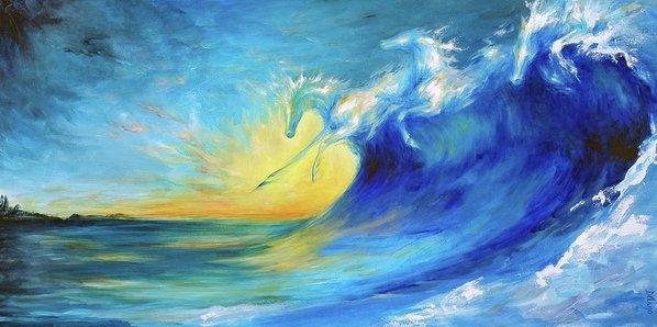 Dina Dargo - Riding the Waves Print