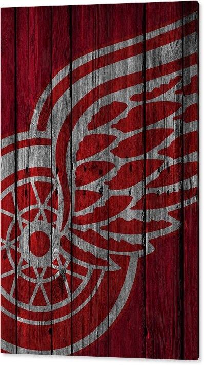 Joe Hamilton - Detroit Red Wings Wood Fe... Print