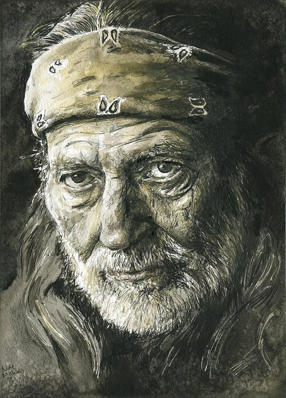 Nate Michaels - Willie Nelson Print