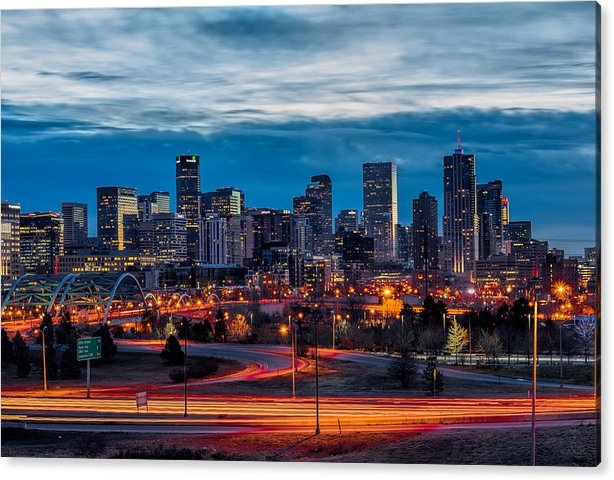 Nathan Gingles - Denver Skyline Print