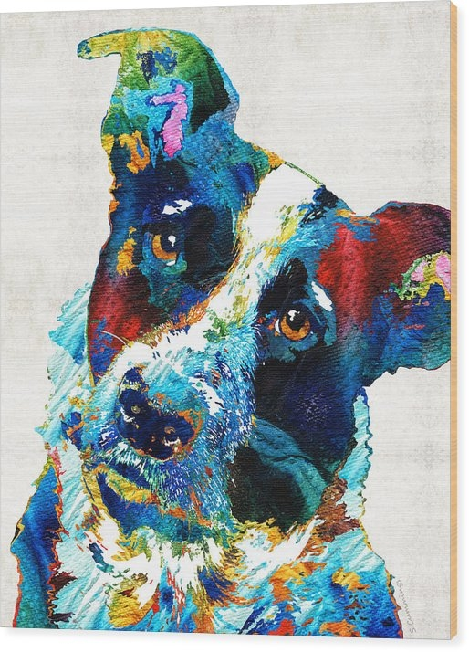 Sharon Cummings - Colorful Dog Art - Irresi... Print
