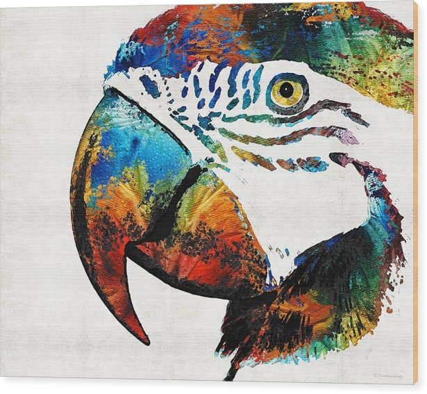 Sharon Cummings - Parrot Head Art By Sharon... Print
