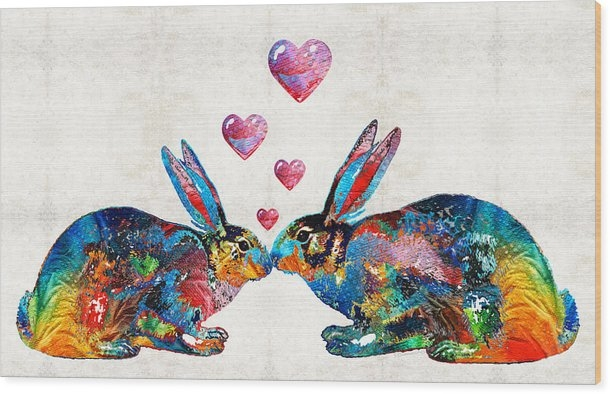 Sharon Cummings - Bunny Rabbit Art - Hopped... Print