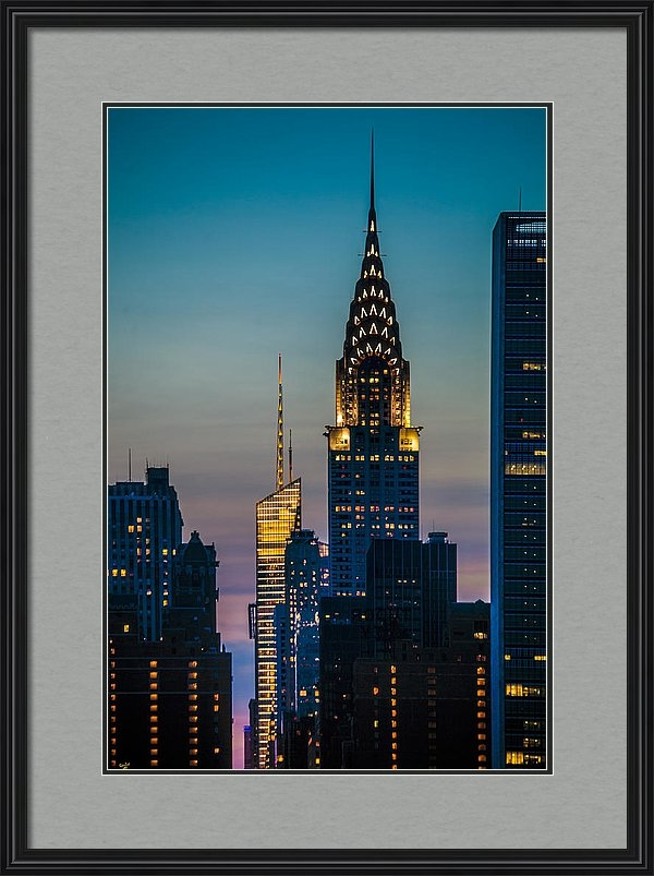 Chris Lord - Chrysler Building At Suns... Print