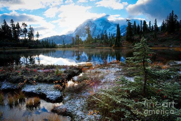 Idaho Scenic Images Linda Lantzy - Shuksan Daybreak Print