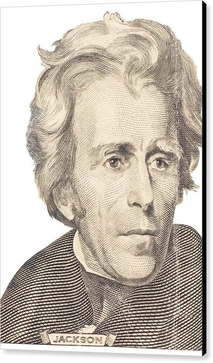Keith Webber Jr - Portrait of Andrew Jackso... Print