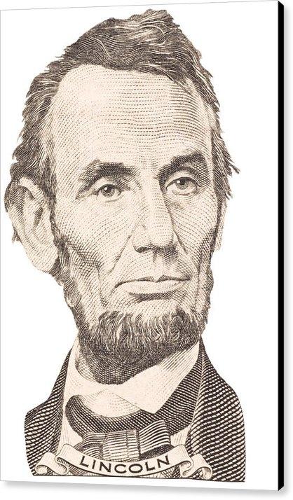 Keith Webber Jr - Portrait of Abraham Linco... Print