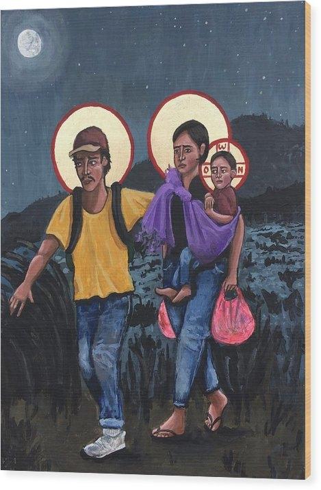 Kelly Latimore - Refugees La Sagrada Famil... Print