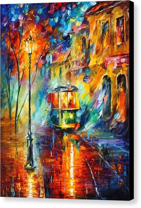 Leonid Afremov - Train In Color Print