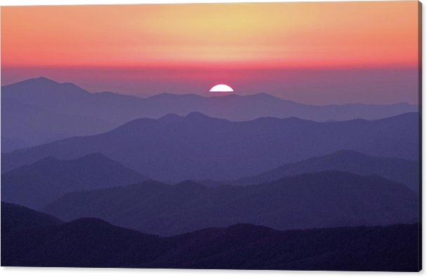 William Slider - Smoky Mountain Sunset fro... Print