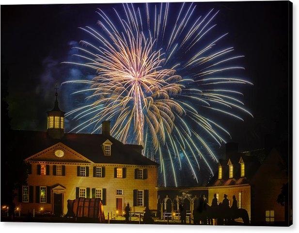 Larry Helms - Fireworks at Mount Vernon Print