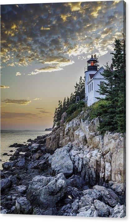 Frederick H Claflin - Bass Harbor Light House Print