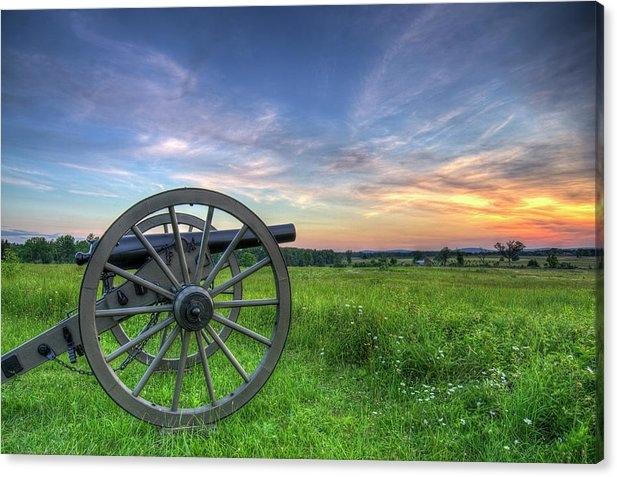 Craig Fildes - Gettysburg Cannon Sunset Print